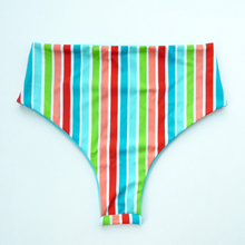 High Waisted Retro Brazilian Bikini Bottoms - Small
