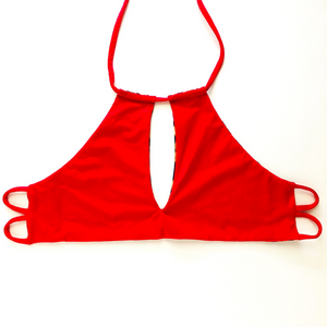 Key Hole High Neck Bikini Top- Small/Medium