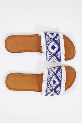 Blue fringe slides ~ Ruby yaya