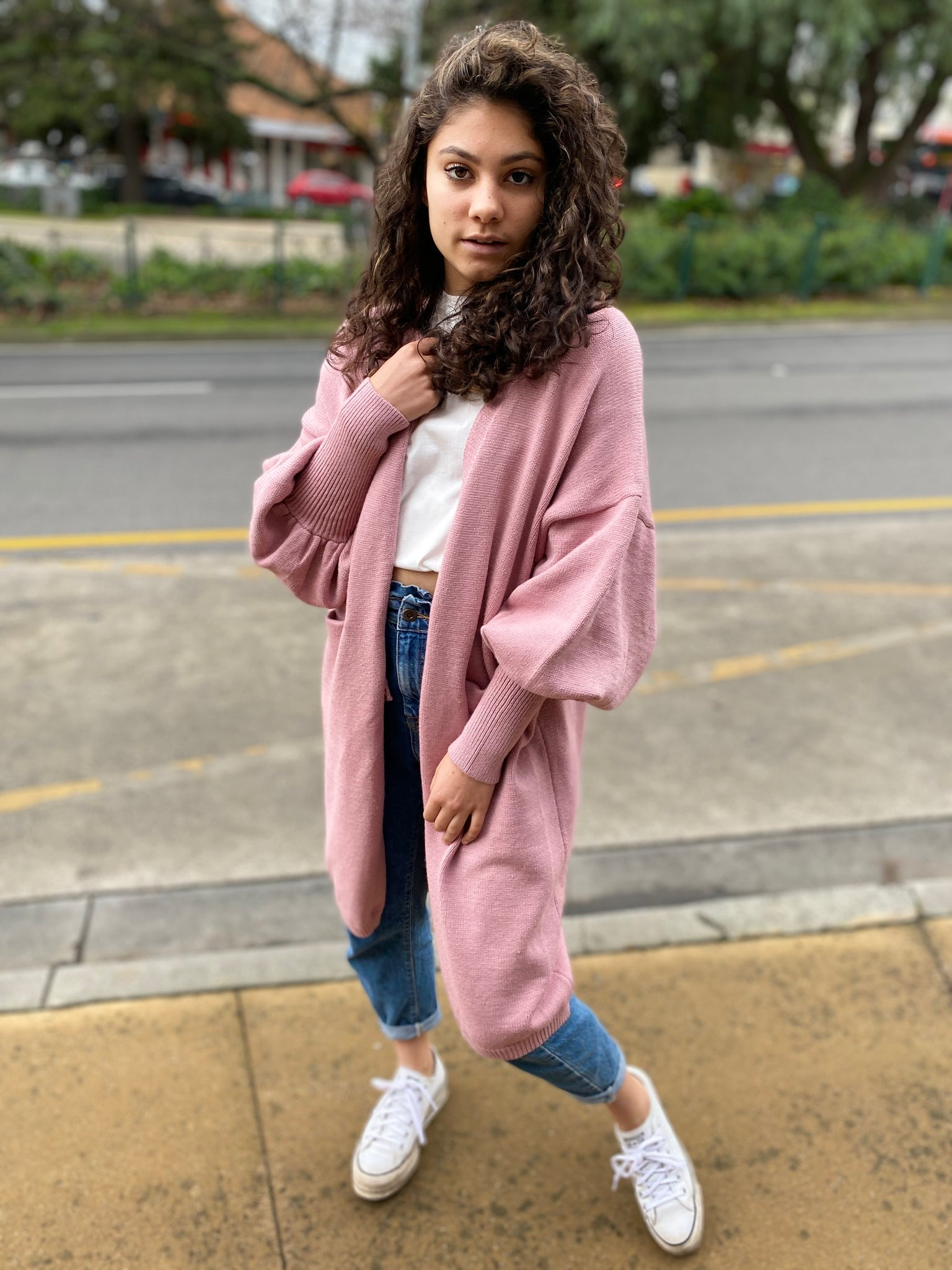 EMPORIUM Cardigan - Rose