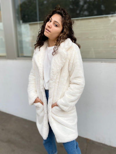 HATCH Faux Fur Jacket - White