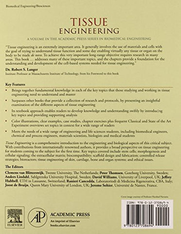 Tissue Engineering (Academic Press Series in Biomedical Engineering)