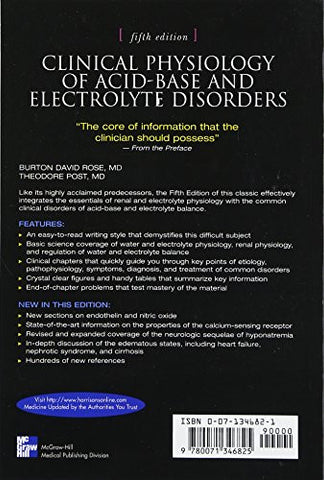 Clinical Physiology of Acid-Base and Electrolyte Disorders (Clinical Physiology of Acid Base & Elect
