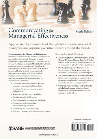 Communicating for Managerial Effectiveness: Challenges | Strategies | Solutions