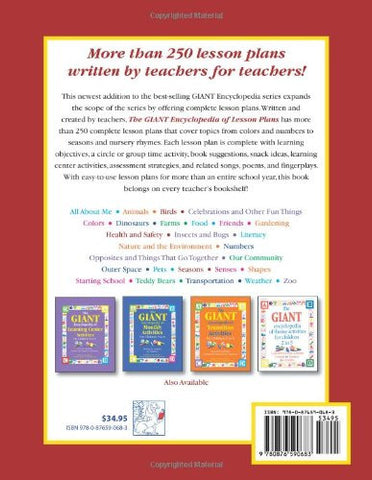 The Giant Encyclopedia of Lesson Plans for Children 3 to 6 (GR-18345)