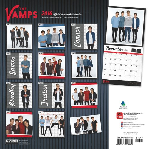 The Vamps 2016 Square 12x12