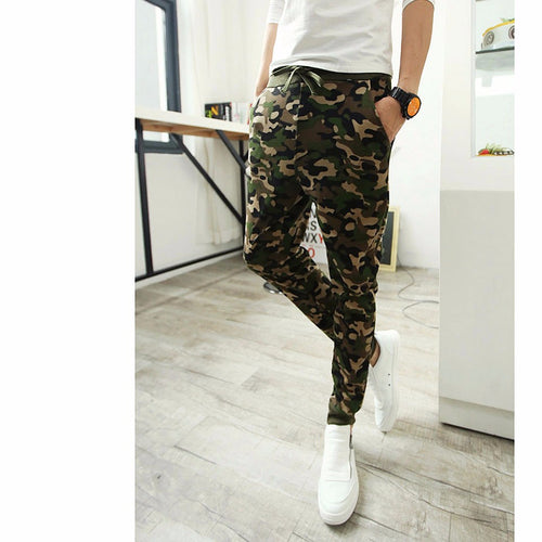 Mens Camo Fleece Joggers