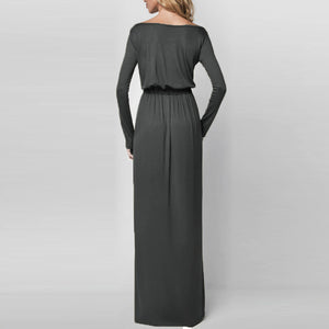 Womens Elegant Flow Maxi Dress