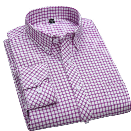 Mens 100% Cotton Oxford Slim Fit Dress Shirt