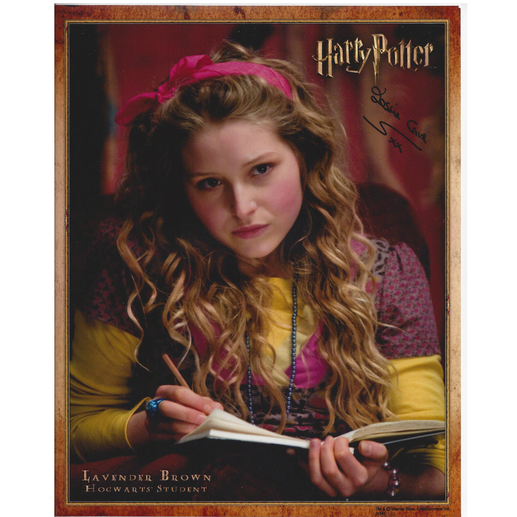 Lavender Brown 10x8 Photo signed by Jessie Cave