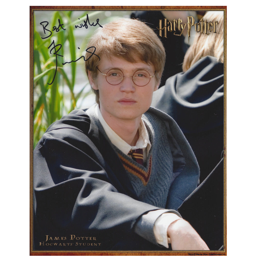 James Potter  10x8 Photo signed by Robbie Jarvis