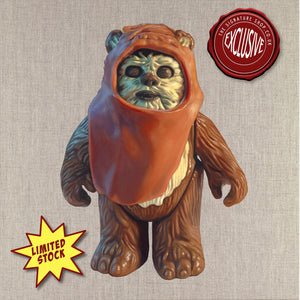 Wicket the Ewok Kenner Figure Print signed by Warwick Davis