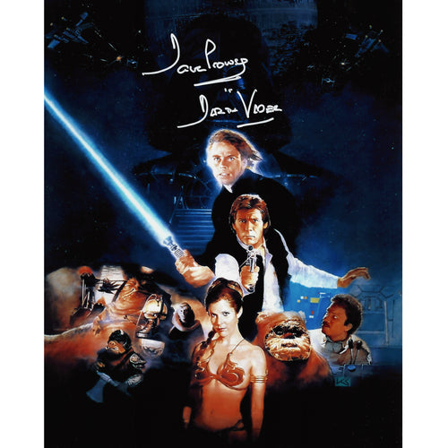 Return of the Jedi Poster Artwork 10x8 signed by Dave Prowse & Warwick Davis