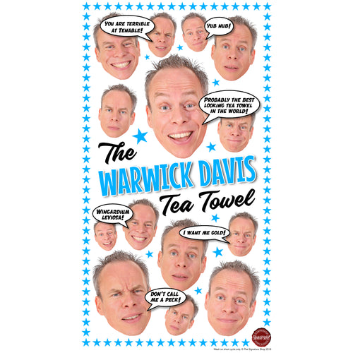 The Warwick Davis Tea Towel