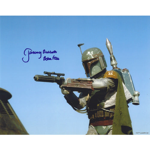 Boba Fett with Blaster 10x8 Photo signed by Jeremy Bulloch