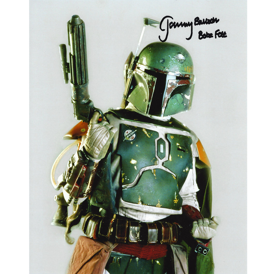 Boba Fett Studio Portrait 10x8 Photo signed by Jeremy Bulloch