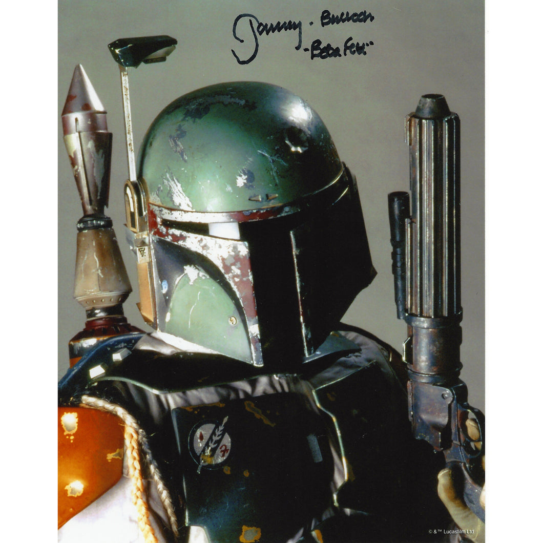 Boba Fett Close Studio Portrait 10x8 Photo signed by Jeremy Bulloch