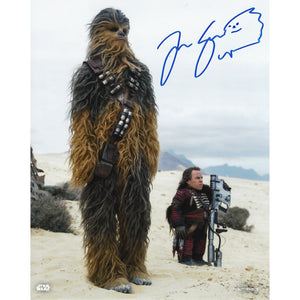 Chewbacca & Weazel 10x8 Photo signed by Joonas Suotamo & Warwick Davis