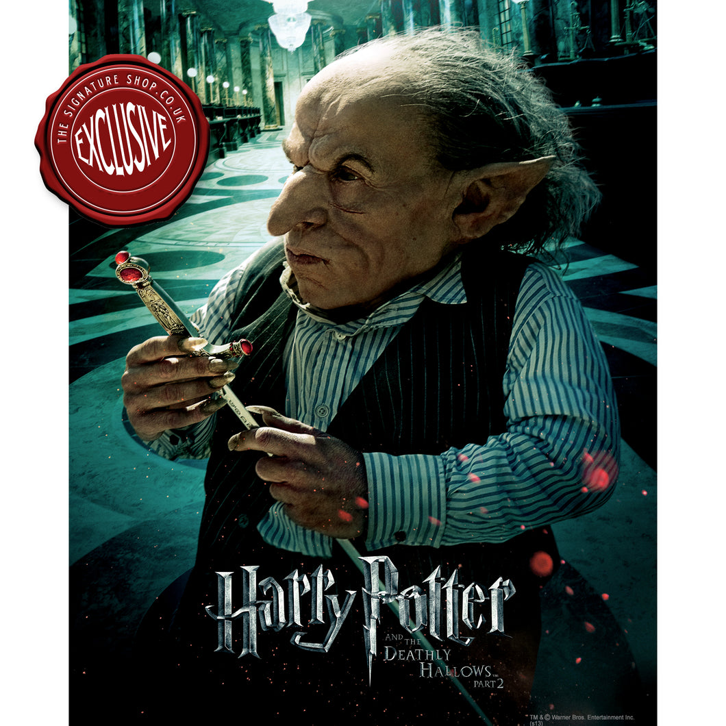 Deathly Hallows Griphook 10x8 Photo signed by Warwick Davis