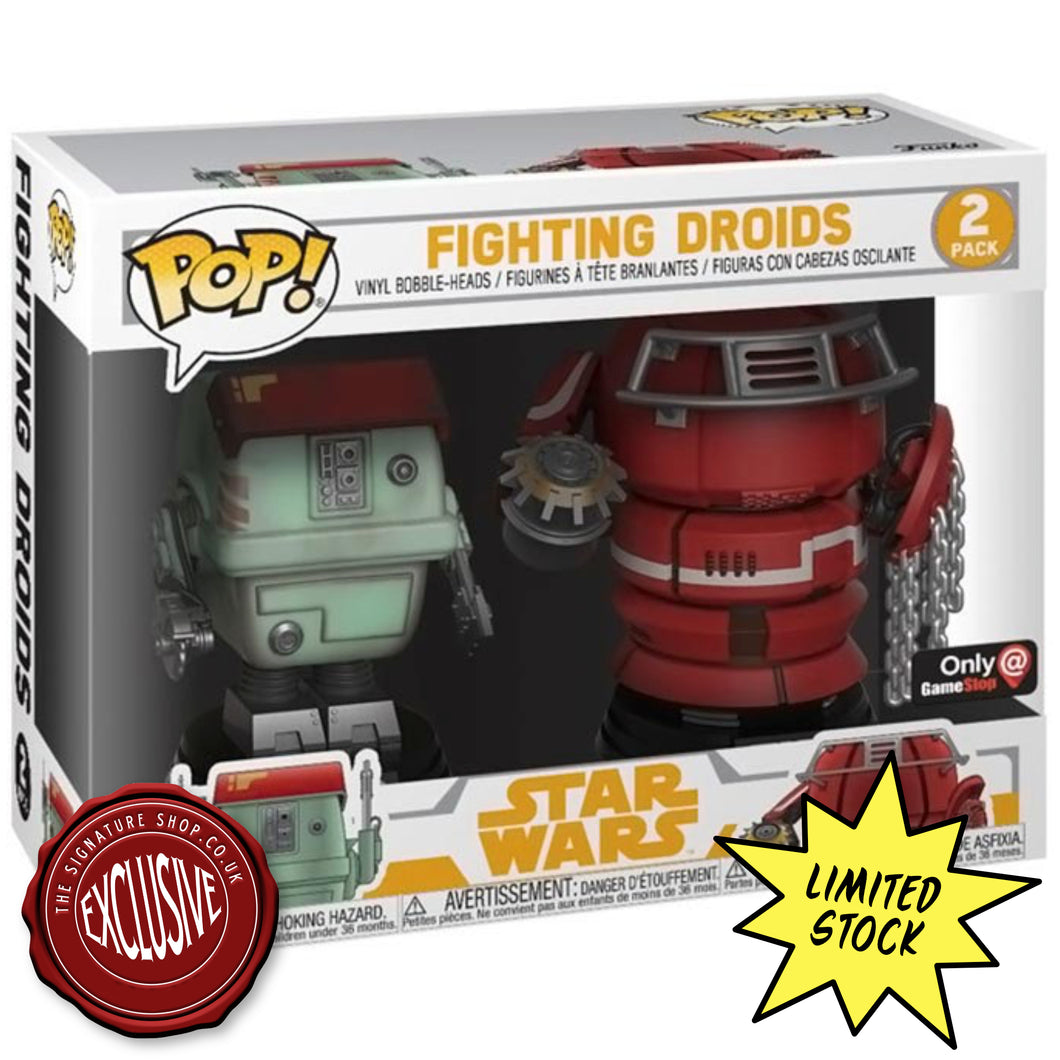 Fighting Droids Pop! Figure signed by Warwick Davis & Annabelle Davis