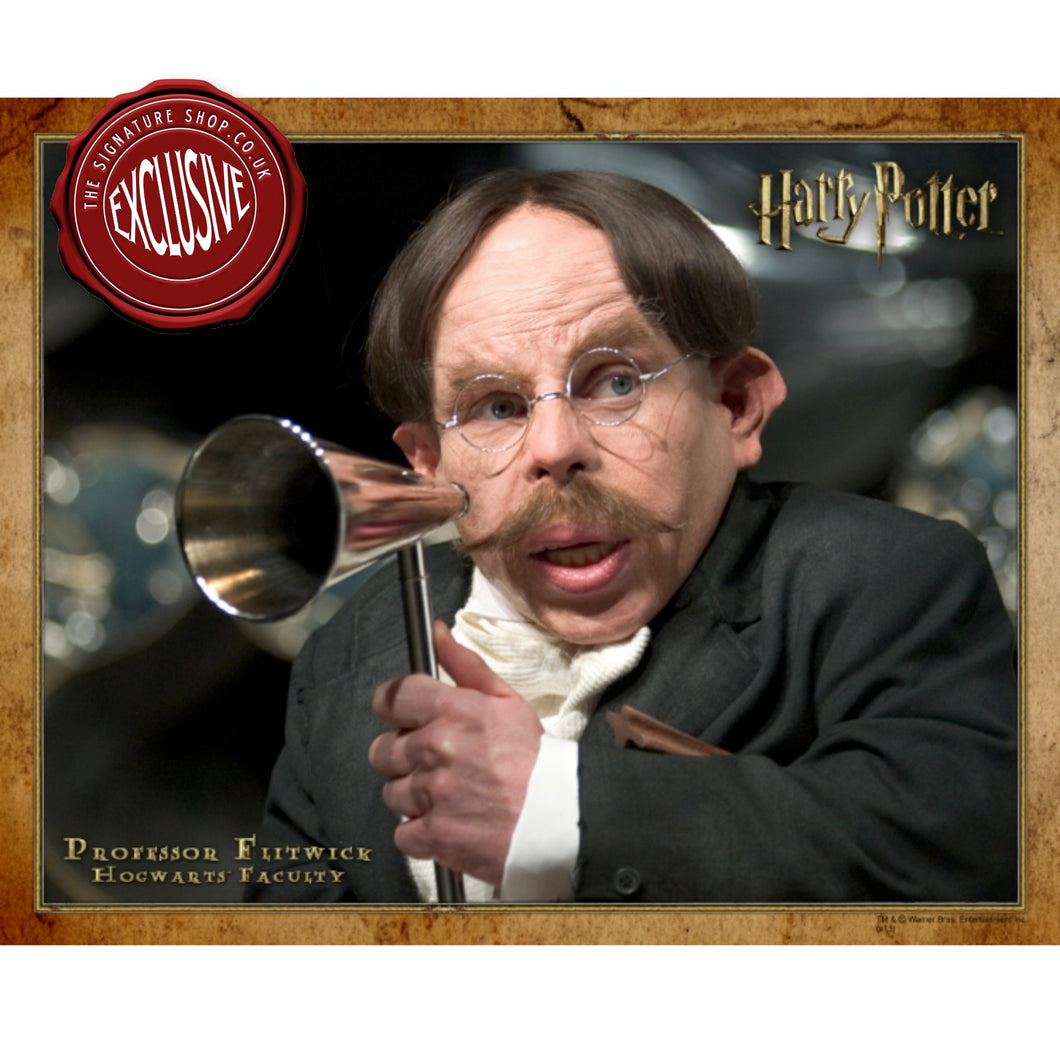 Prof. Flitwick 10x8 Photo signed by Warwick Davis
