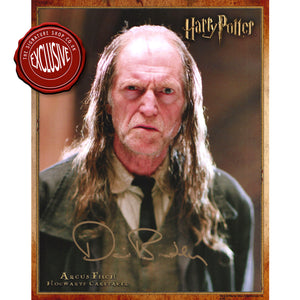 Argus Filch 10x8 Photo signed by David Bradley
