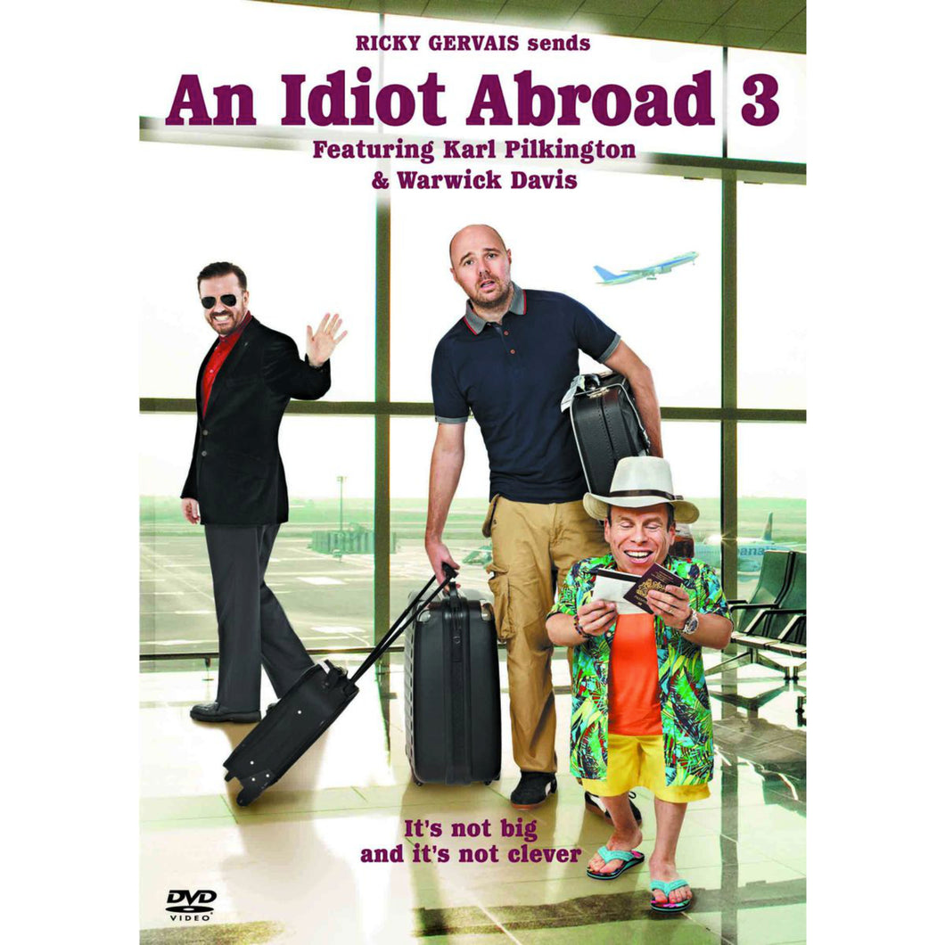 An Idiot Abroad - Series 3 DVD signed by Warwick Davis