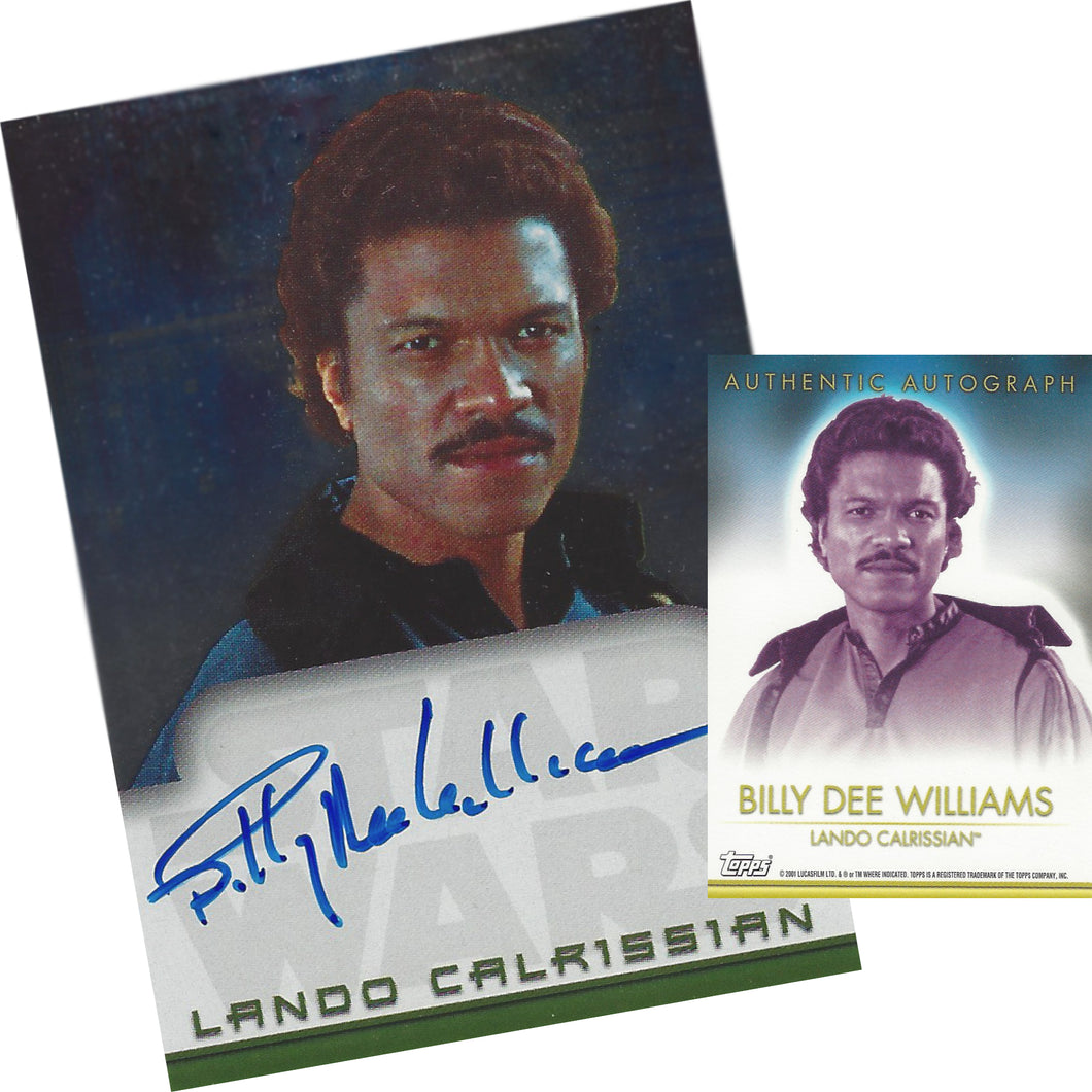 Lando Calrissian Topps Autograph Card signed by Billy-Dee Williams