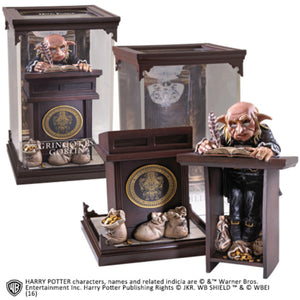 Noble Collection Gringotts Goblin Model signed by Warwick Davis