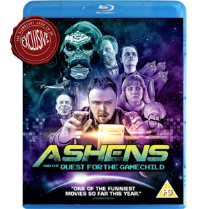Ashens & The Quest for the Gamechild Blu-ray signed by Warwick Davis