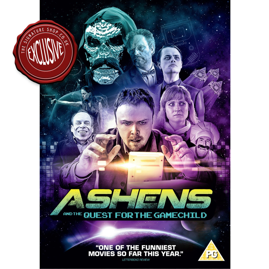 Ashens & The Quest for the Gamechild DVD signed by Warwick Davis