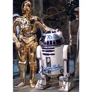 R2-D2 & C-3PO 10x8 signed by Kenny Baker & Anthony Daniels