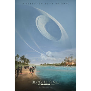 Limited Edition Rogue One Poster signed by Warwick Davis