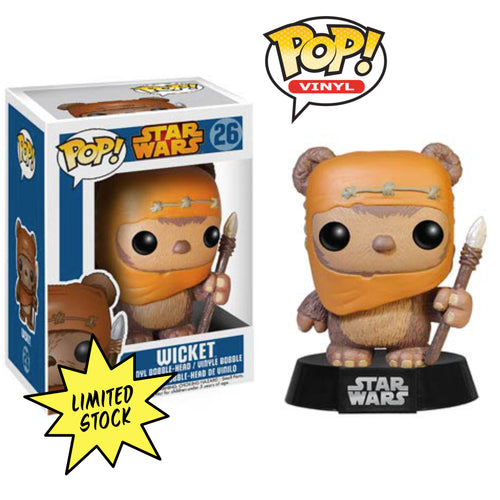 Wicket the Ewok Pop! Figure signed by Warwick Davis