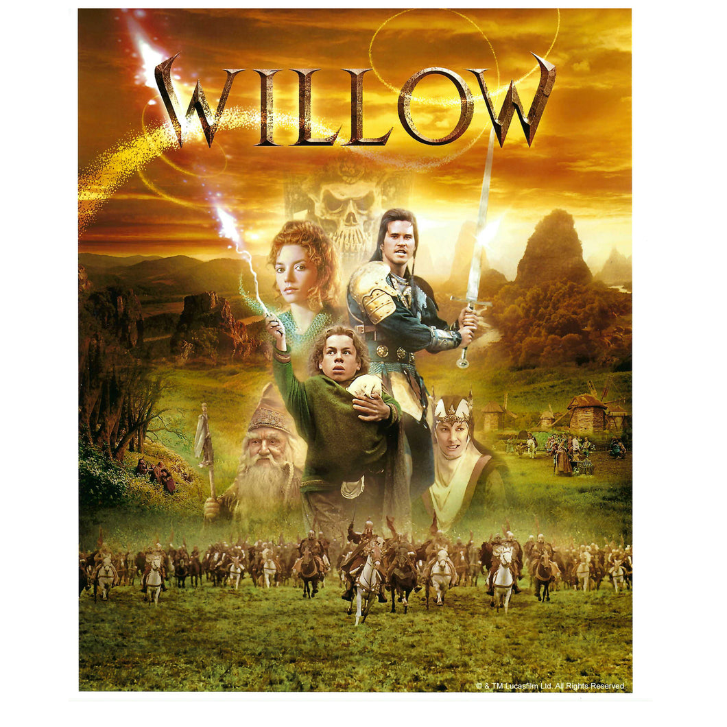 Original Willow Artwork 10x8 signed & personalised by Warwick Davis
