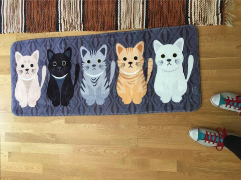 The Kitty Kat Welcome Floor Mat - Daily Kreative - Kreative products for beauty and healthy living
