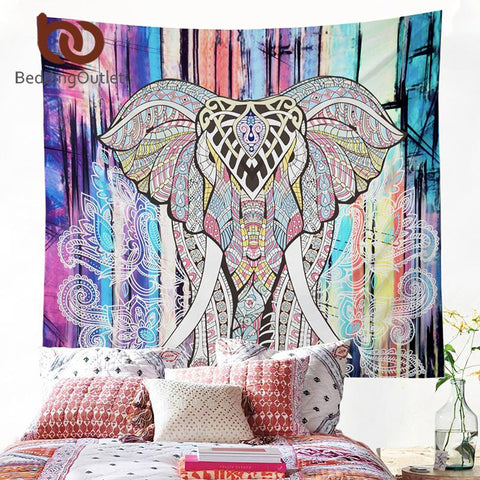 The Elephant Mandala Tapestry Decor - Daily Kreative - Kreative products for home essentials