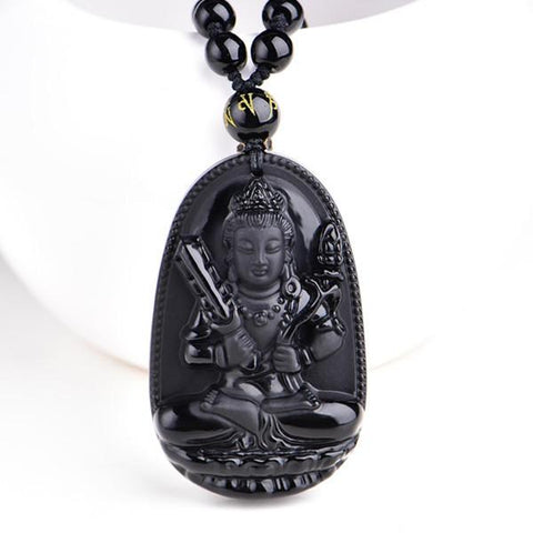 Black Obsidian Lucky Buddha Amulet - Daily Kreative - Kreative products for beauty and healthy living