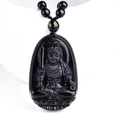 The Black Obsidian Lucky Buddha Amulet - Daily Kreative - Kreative products for home essentials