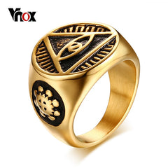 Antique Men Ring Triangle Eye - Daily Kreative - Kreative products for beauty and healthy living
