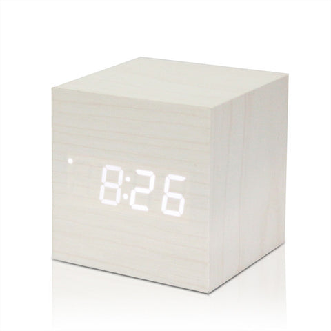 Digital Wooden LED Alarm - Daily Kreative - Kreative products for beauty and healthy living