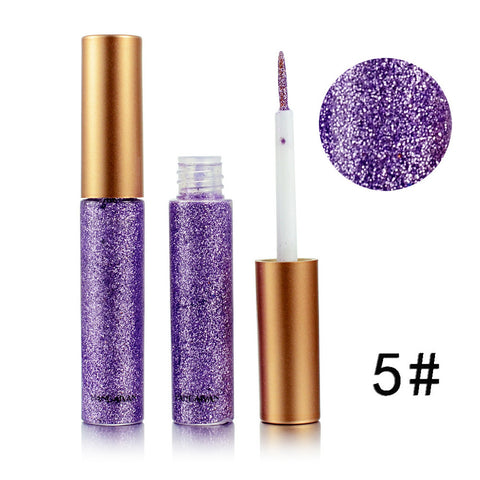Metallic Shiny Smoky Eyes Eyeshadow Waterproof Glitter Liquid Eyeliner - Daily Kreative - Kreative products for beauty and healthy living