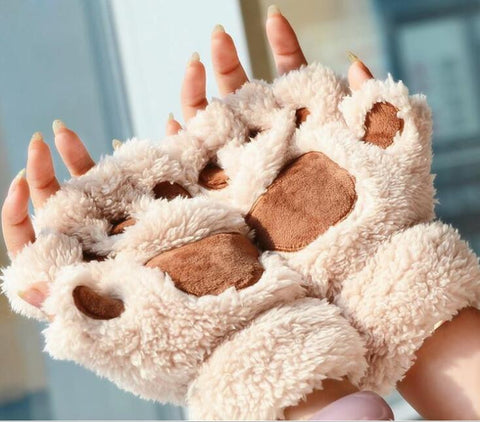 Cute Paw Half Finger Gloves - Daily Kreative - Kreative products for beauty and healthy living
