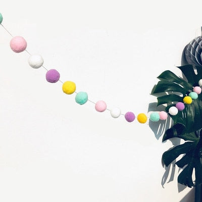 Macaron Color Hair Ball Decor Banner - Daily Kreative - Kreative products for beauty and healthy living