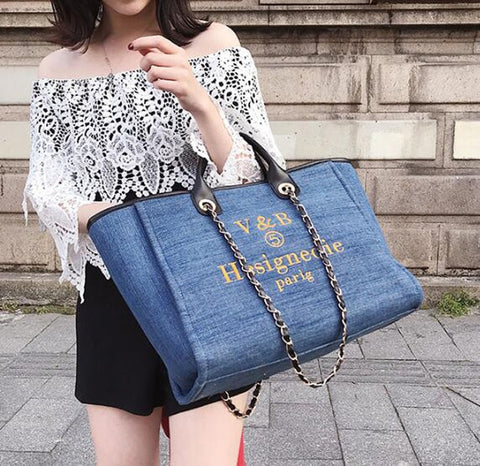 Denim Casual Hand Tote  Bag - Daily Kreative - Kreative products for beauty and healthy living