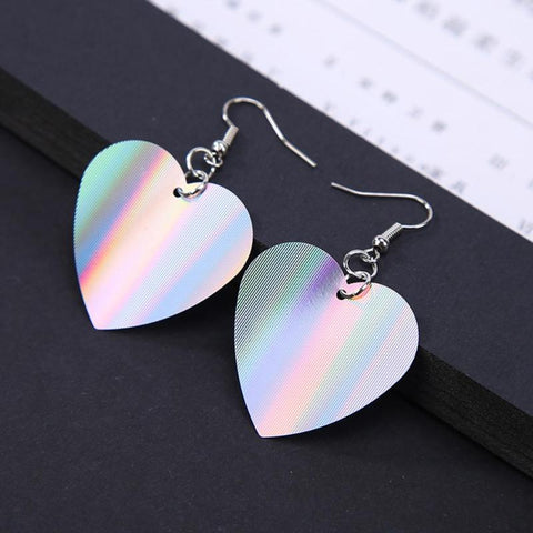 Big Heart Dangle Earrings - Daily Kreative - Kreative products for beauty and healthy living