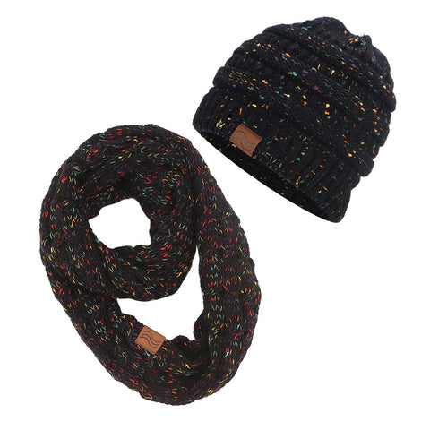 ponytail beanies & scarf sets - Daily Kreative - Kreative products for beauty and healthy living
