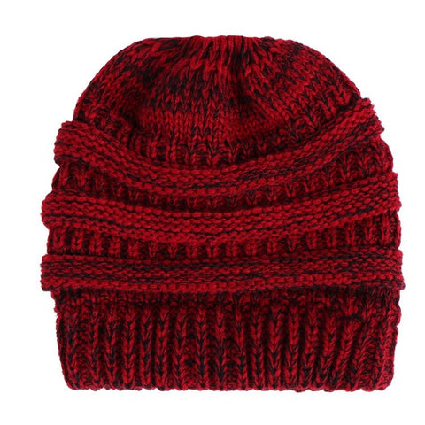 Ponytail Beanie Hat Winter Skullies Beanies Warm Caps Female Knitted Stylish Hats For Ladies Fashion - Daily Kreative - Kreative products for beauty and healthy living