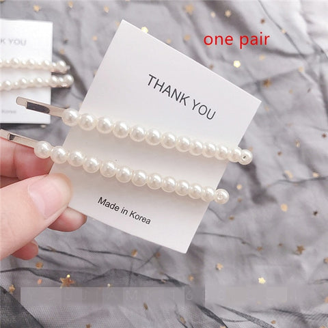 Fashion Imitiation Pearl Hair Clip Barrettes - Daily Kreative - Kreative products for beauty and healthy living