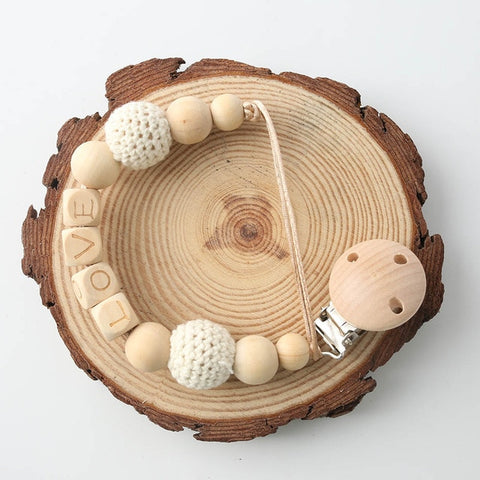 Custom Baby Name  Wood Beads - Daily Kreative - Kreative products for beauty and healthy living